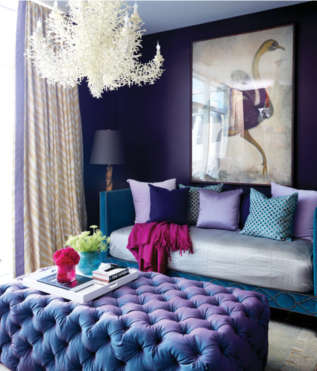 Bold Purple Living Space Ultra Violet 2018